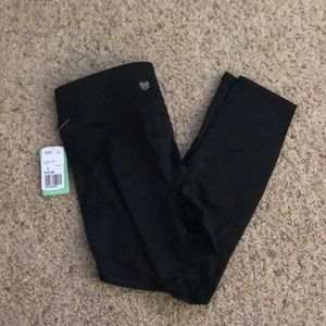 NWT Forever 21 black mesh leggings active tight S